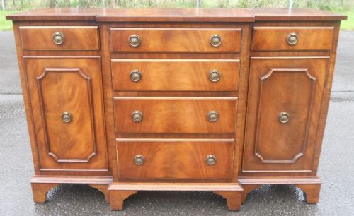Small Mahogany Breakfront Sideboard by Reprodux